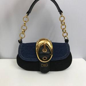 D&G Dolce & Gabbana Bag Denim Canvas Leather